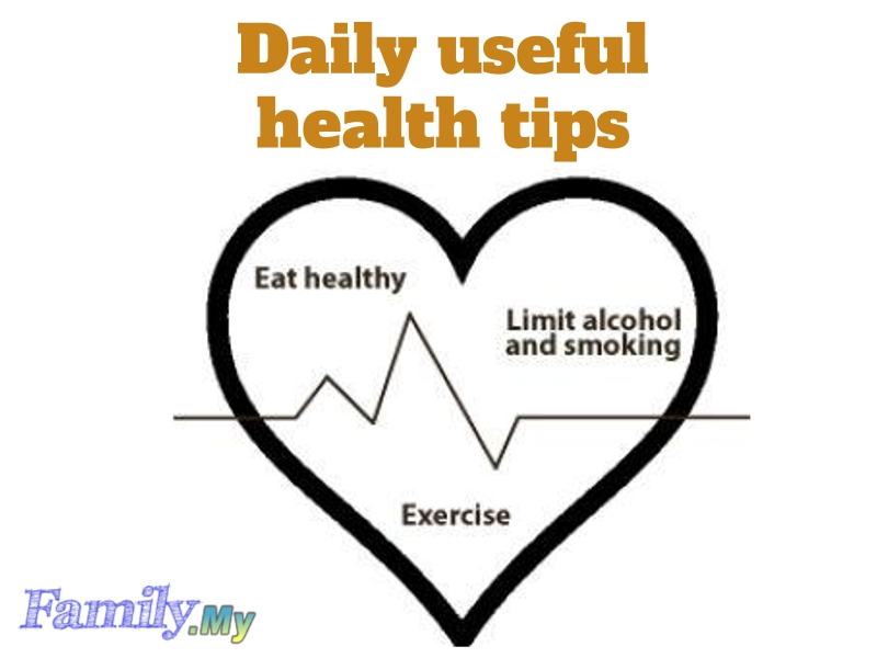 Daily useful health tips