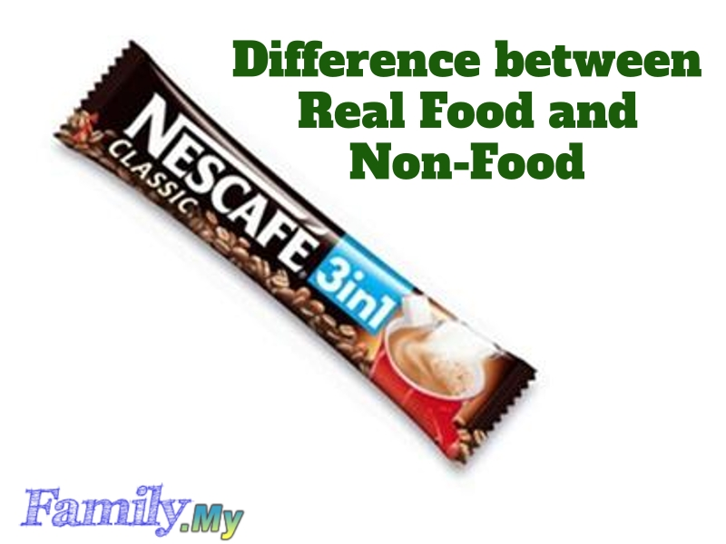 Difference between Real Food and Non-Food