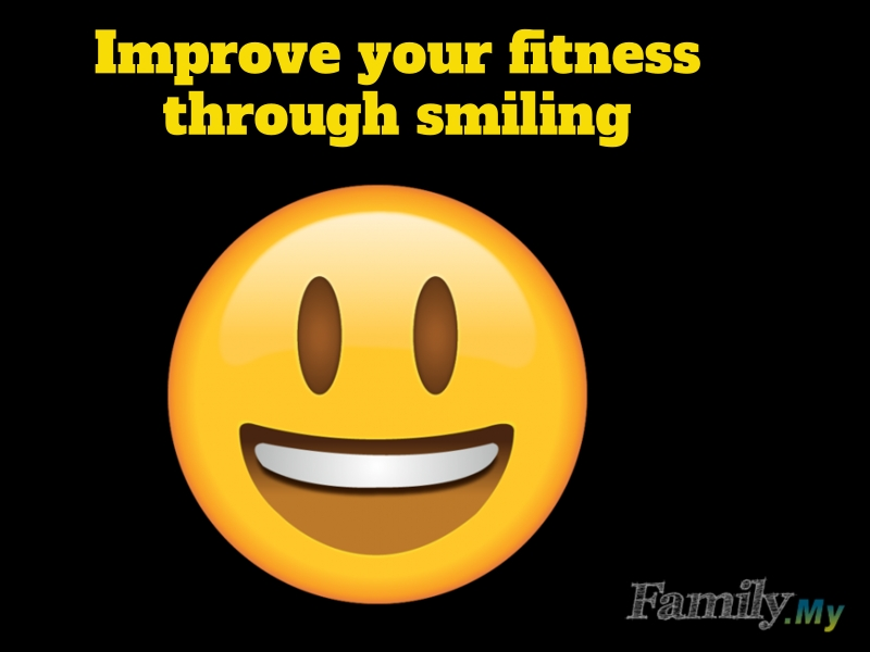 Improve your fitness through smiling