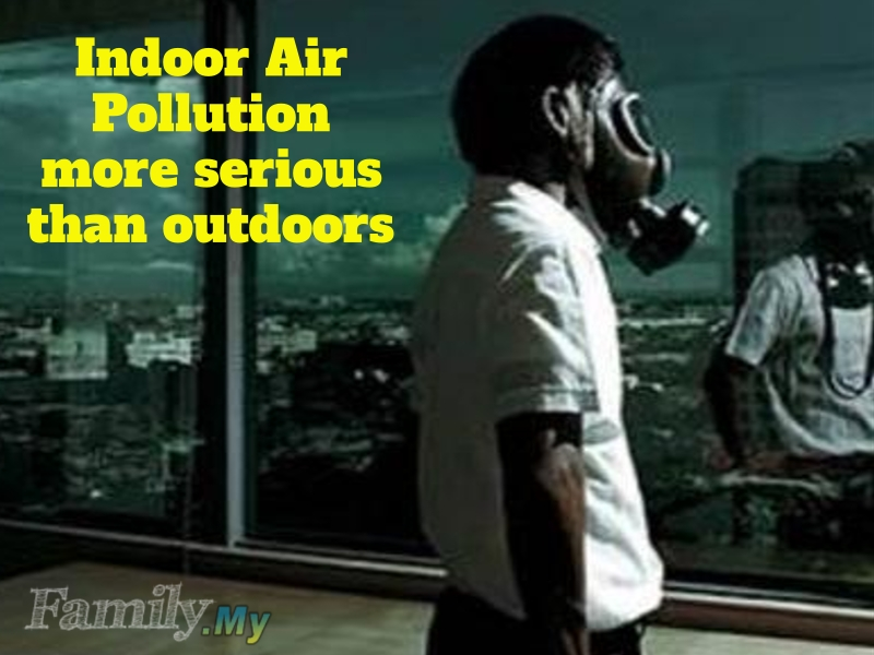 Indoor Air Pollution more serious than outdoors