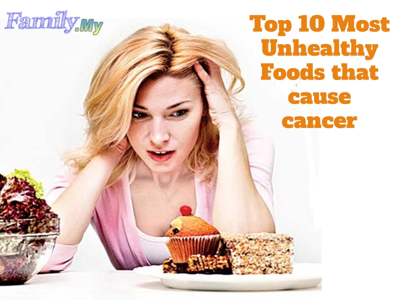 Top 10 Most Unhealthy Foods that cause cancer