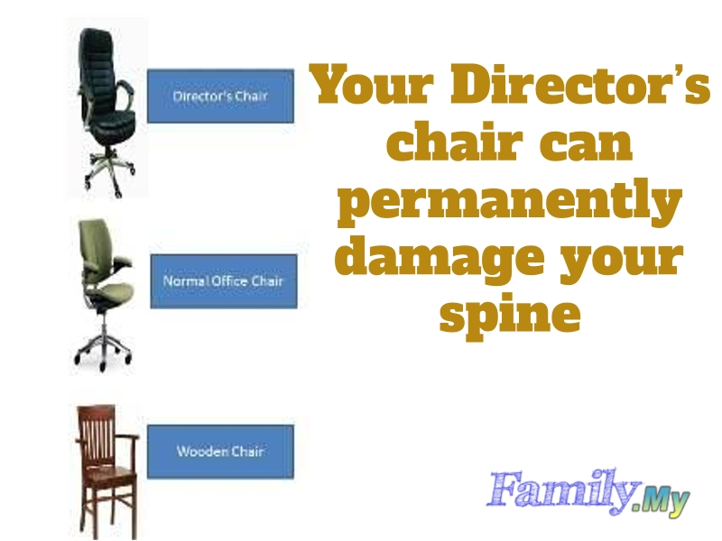 Your Director's chair can permanently damage your spine!